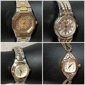 Women's Fashion Wrist Watch Collection Lot of 4